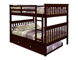 Cheap Twin Bed With Trundle Amazon Com Bunk Bed Full Over Full With Trundle In Cappuccino