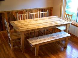 Beetle Kill Pine Dining Set Table Chairs Bench Nicole Charles For