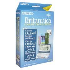 Oxford Dictionary Seiko Er8100 Electronic Britannica Concise Encyclopedia Oxford