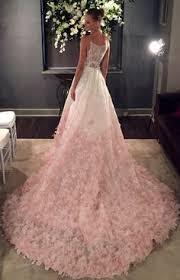 ombré wedding dress v neck silk organza gown wedding dress with blush ombre