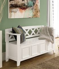 decorating small entryway storage bench for pretty home