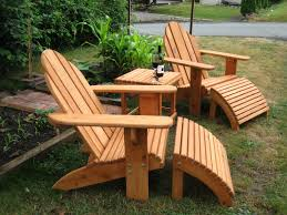exterior polywood furniture with green grass and polywood patio