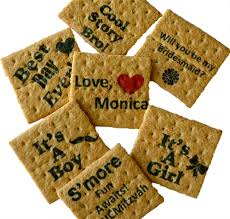 personalized cracker boxes graham crackers custom printed message