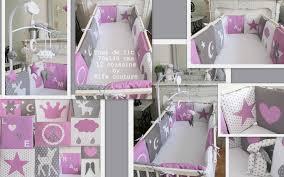 chambre bébé fille violet tour de lit bébé fille mauve tout savoir sur la maison omote