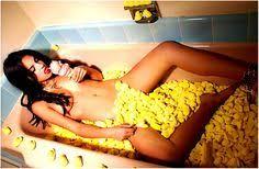 Bathtub Full Of Ice Tub Full Of Peeps While Eating Ice Cream Cone Modeling
