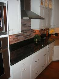 kitchen kitchen red brick backsplash with white border for large