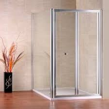 760x760mm bi fold glass shower door enclosure bathroom side