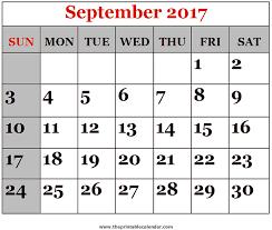 september 2017 printable calendars
