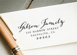 wedding invitations return address self inking return address st two last names pre