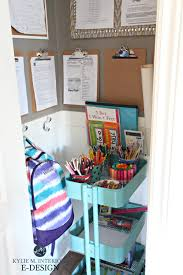 ideas to organize kids homework ikea raskog cart papers