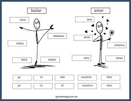spanish verb conjugation practice for kids spanish playground