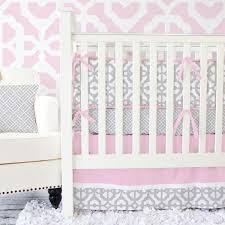 Gray And Pink Crib Bedding Gray And Pink Mod Baby Bedding Caden