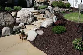 simple front yard landscaping ideas with rocks u2014 jbeedesigns