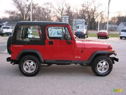 1994 poppy red jeep wrangler s 4x4 75612521 photo 3 gtcarlot
