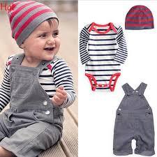 2018 2015 overall clothes newborn striped romper baby denim