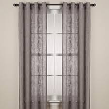 Curtains 95 Inches Length Alton Solid Grommet Window Curtain Panel Bed Bath U0026 Beyond
