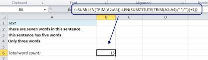 Count Words In Excel Use Excel To Count Words Easy Excel Com