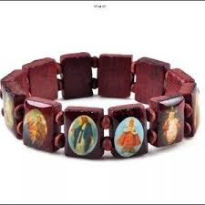 saints bracelet women s wooden saints bracelet on poshmark
