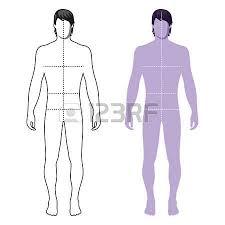 fashion man full length template figure silhouette front u0026 back