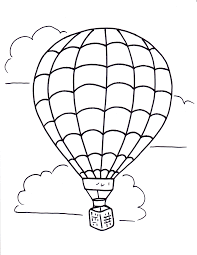 air balloon coloring pages getcoloringpages com