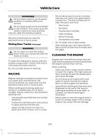 warning ford transit 2016 5 g owners manual