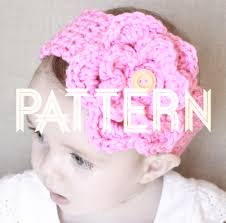 crochet baby headbands crocheted baby headband with detachable flower pattern ladylion co