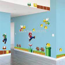 chambre mario bros en vente mario bros pvc amovible wall sticker decal garçon