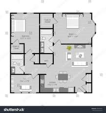 floor plan vector illustration 2 bedroom stock vector 468263906