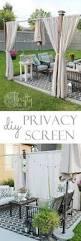 Diy Backyard Patio Ideas by Best 25 Backyard Privacy Ideas Only On Pinterest Patio Privacy