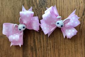 easter hair bows bunny bow rabbit hairbow easter hairbows easter birthday bow