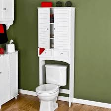 Bathroom Cabinet Wall White Bathroom Cabinet White Finish Stained Plastering Wall Floor
