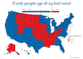 Wisconsin Election Map by The Electoral Map If Only Millennials Had Voted U2013 New Maps Based