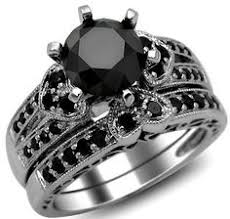 Black Diamond Wedding Rings by 8ct Black Diamond Solitaire In White Gold Any Halloween