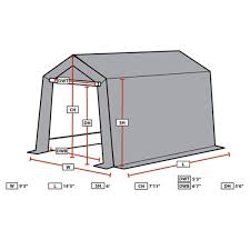 Canopy Storage Shelter by King Canopy 9 U0027 X 14 U0027 Brown Storage Garage Northline Express