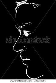 sketch man covering his face his stock vector 85702696 shutterstock