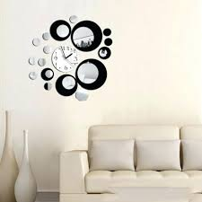 wall clocks large wall clock metal diy industrial silver modern jual diy creative wall clock sticker full image for awesome decor wall clock 25 decor wall