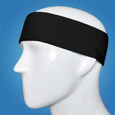 black headbands sports atheletic basketball soccer sweatband