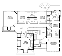 bathroom floorplans craftsman style house plan 6 beds 5 5 baths 6130 sq ft plan 132