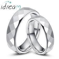 wedding bands for couples tungsten wedding bands set for women men flat white tungsten