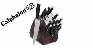 Self Sharpening Kitchen Knives by Calphalon Self Sharpening 15 Pc Cutlery Set With Sharpin Technology