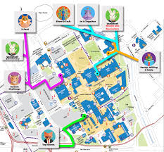 Colorado State University Campus Map by Colorado Destination Imagination