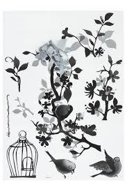 monochrome bird cage black white wall sticker vinyl transfer monochrome bird cage black white wall sticker vinyl transfer mural wall art