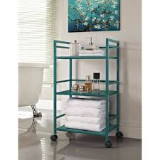 bathroom storage bath cart dar living versa rolling glass bath Bathroom Storage Cart