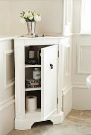 Bathroom Linen Storage Ideas Corner Cabinets For Bathroom With Chrome Vase On Top And 3 Tier
