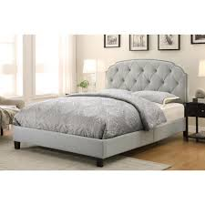 Upholstered Footboard Pri All In 1 Gray Queen Upholstered Bed Ds 2223 290 The Home Depot
