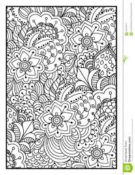 black and white background for coloring book stock vector image