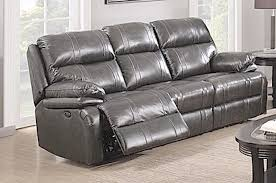 power reclining sofa dark grey italian leather sam levitz