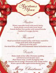 christmas dinner menu template eliolera com