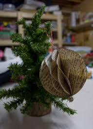 Christmas Book Ornaments - mini christmas book decorations created for the shaw sisters by