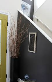 benjamin moore gentle cream in a north facing room with dark brown